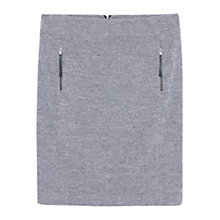 Buy Violeta by Mango Decorative Zip Skirt, Grey Online at johnlewis.com