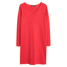 Buy Mango Cotton Shift Dress, Red Online at johnlewis.com