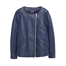 Buy Violeta by Mango Zipped Jacket, Navy Online at johnlewis.com