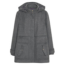 Buy Violeta by Mango Straight Cut Coat, Dark Grey Online at johnlewis.com