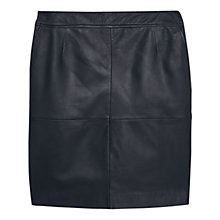 Buy Violeta by Mango Leather Skirt, Black Online at johnlewis.com