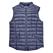 Buy Violeta by Mango Quilted Gilet, Navy Online at johnlewis.com