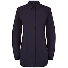 Buy Jaeger Cotton Casual Shirt, Midnight Online at johnlewis.com