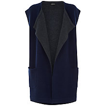 Buy Jaeger Double Faced Knitted Gilet, Midnight Online at johnlewis.com