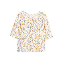 Buy Mango Floral Print Blouse, Light Beige Online at johnlewis.com