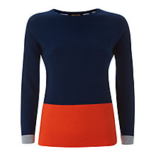 Buy Jaeger Double-Faced Merino Sweater, Midnight Online at johnlewis.com