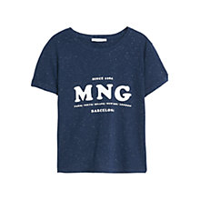 Buy Mango Logo T-shirt, Navy Online at johnlewis.com