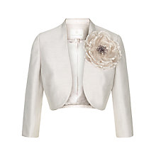 Buy Jacques Vert Corsage Bolero Jacket, Mid Neutral Online at johnlewis.com
