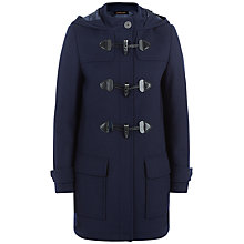 Buy Jaeger Melton Wool Blend Duffle Coat, Midnight Online at johnlewis.com