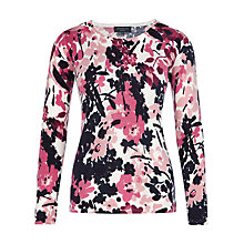 Buy Viyella Petite Floral Print Jumper, Pale Pink Online at johnlewis.com