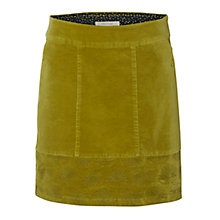 Buy White Stuff Lindy Velvet Skirt, Yellow Online at johnlewis.com
