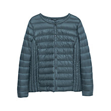 Buy Violeta by Mango Quilted Coat, Dark Green Online at johnlewis.com