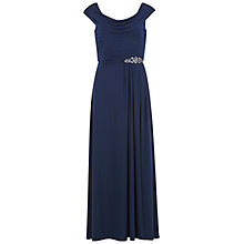 Buy Gina Bacconi Embellished Cowl Neck Jersey Dress, Spring Navy Online at johnlewis.com