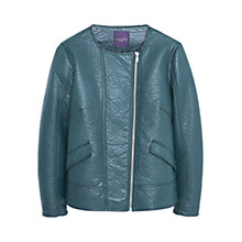 Buy Violeta by Mango Zipped Jacket, Dark Green Online at johnlewis.com