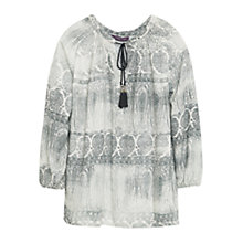 Buy Violeta by Mango Paisley Print Blouse, Grey Online at johnlewis.com