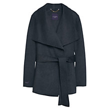 Buy Violeta by Mango Belted Coat, Dark Grey Online at johnlewis.com