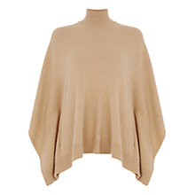 Buy Oasis High Neck Side Split Poncho, Camel Online at johnlewis.com