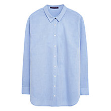 Buy Violeta by Mango Panel Cotton Shirt, Pastel Blue Online at johnlewis.com