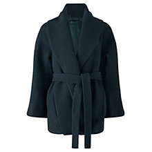 Buy Jigsaw Wool Dressing Gown Coat, Deep Teal Online at johnlewis.com