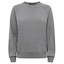Buy Jaeger Cotton Jersey Sweatshirt, Light Grey Melange Online at johnlewis.com
