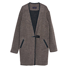 Buy Violeta by Mango Wool Wrapped Coat, Medium Brown Online at johnlewis.com