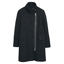 Buy Violeta by Mango Side Zip Coat, Black Online at johnlewis.com
