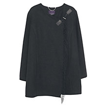 Buy Violeta by Mango Fringe Coat, Black Online at johnlewis.com