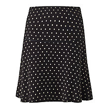 Buy Jigsaw Polka Dot Flippy Skirt, Black Online at johnlewis.com