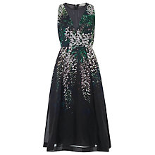 Buy Whistles Ren Organza Print Silk Dress, Black/Multi Online at johnlewis.com
