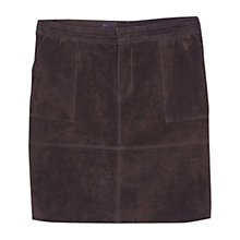 Buy Violeta by Mango Suede Skirt, Dark Brown Online at johnlewis.com