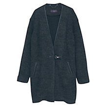 Buy Violeta by Mango Wrapped Coat, Dark Grey Online at johnlewis.com