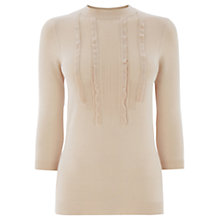 Buy Warehouse Ruffle Front Jumper, Cream Online at johnlewis.com
