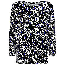 Buy Jaeger Ponte Ripple Print T-Shirt, French Navy Online at johnlewis.com