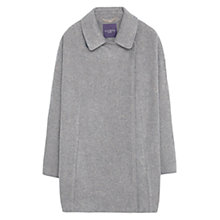Buy Violeta by Mango Button Wool Blend Coat, Medium Grey Online at johnlewis.com