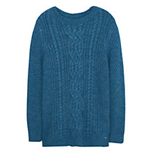 Buy Violeta by Mango Chunky Knit Sweater, Blue Online at johnlewis.com