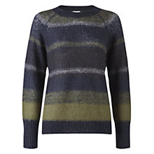 Buy Jigsaw Stripe Jumper, Khaki Online at johnlewis.com
