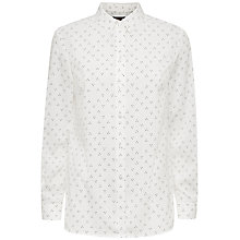 Buy Jaeger Ditsy Print Blouse, Ivory / Black Online at johnlewis.com