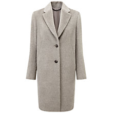 Buy Pure Collection Lanesborough Luxury Alpaca Blend Coat, Soft Taupe Online at johnlewis.com