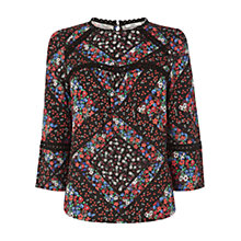 Buy Oasis St Germain Print Blouse, Multi Online at johnlewis.com