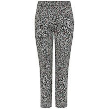 Buy Jaeger Ripple Jacquard Trousers, Multi Online at johnlewis.com