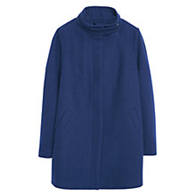 Buy Violeta by Mango Tab Wool Blend Coat, Navy Online at johnlewis.com