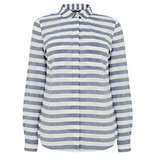 Buy Oasis Striped Cotton Shirt, Multi Online at johnlewis.com