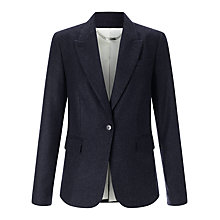 Buy Jigsaw London Cross Hatch Jacket, Navy Online at johnlewis.com