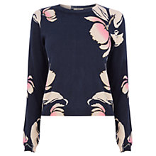 Buy Oasis Seventies Cropped Jumper, Multi Online at johnlewis.com