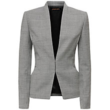Buy Jaeger Dogstooth Fitted Jacket, Black/White Online at johnlewis.com