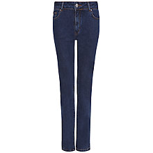 Buy Jaeger Straight Mid Rise Jeans, Pale Blue Online at johnlewis.com