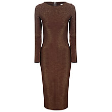 Buy True Decadence Metallic Midi Dress, Brown Online at johnlewis.com