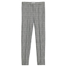 Buy Mango Houndstooth Tapered Trousers, Black Online at johnlewis.com
