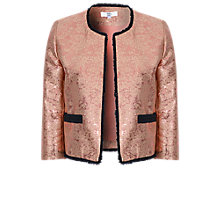 Buy True Decadence Metallic Tweed Jacket, Rose Gold Online at johnlewis.com