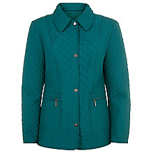 Buy Precis Petite Quilted Coat, Teal Online at johnlewis.com